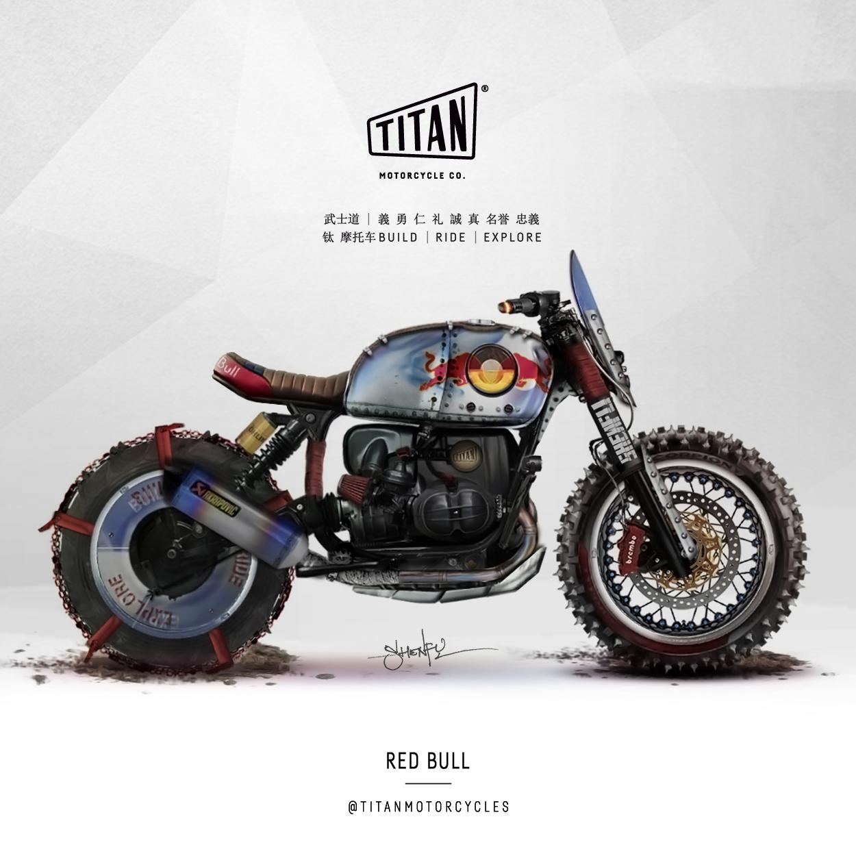 SHENFU Art of Custom Bike TITAN Motorrad Umbau Cafe Racer Graz Mein Motorrad Umbau Preis