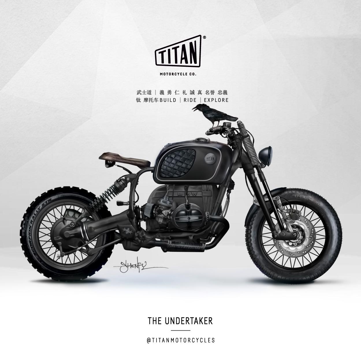 SHENFU Undertaker Bike Art of Custom Bike TITAN Motorrad Umbau Cafe Racer Graz Mein Motorrad Umbau Preis Siebenhofer