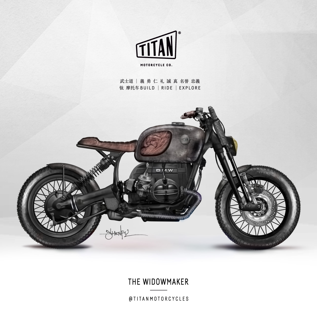 SHENFU Art of Custom Bike TITAN Motorrad Umbau Cafe Racer Graz Mein Motorrad Umbau Preis Siebenhofer