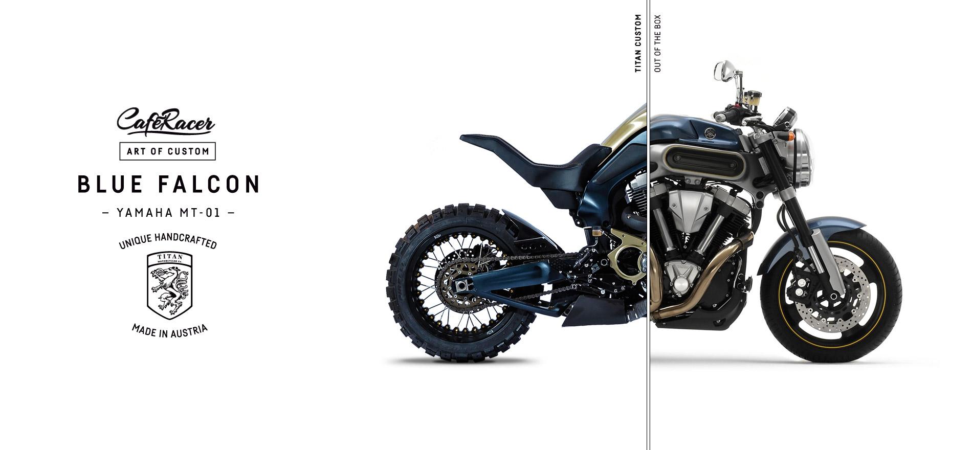 TITAN_CustomBike_CafeRacer_Graz_MadeInAustria_Before-After_Blue-Falcon_Yamaha-MT-01_Motorradumbau_Left
